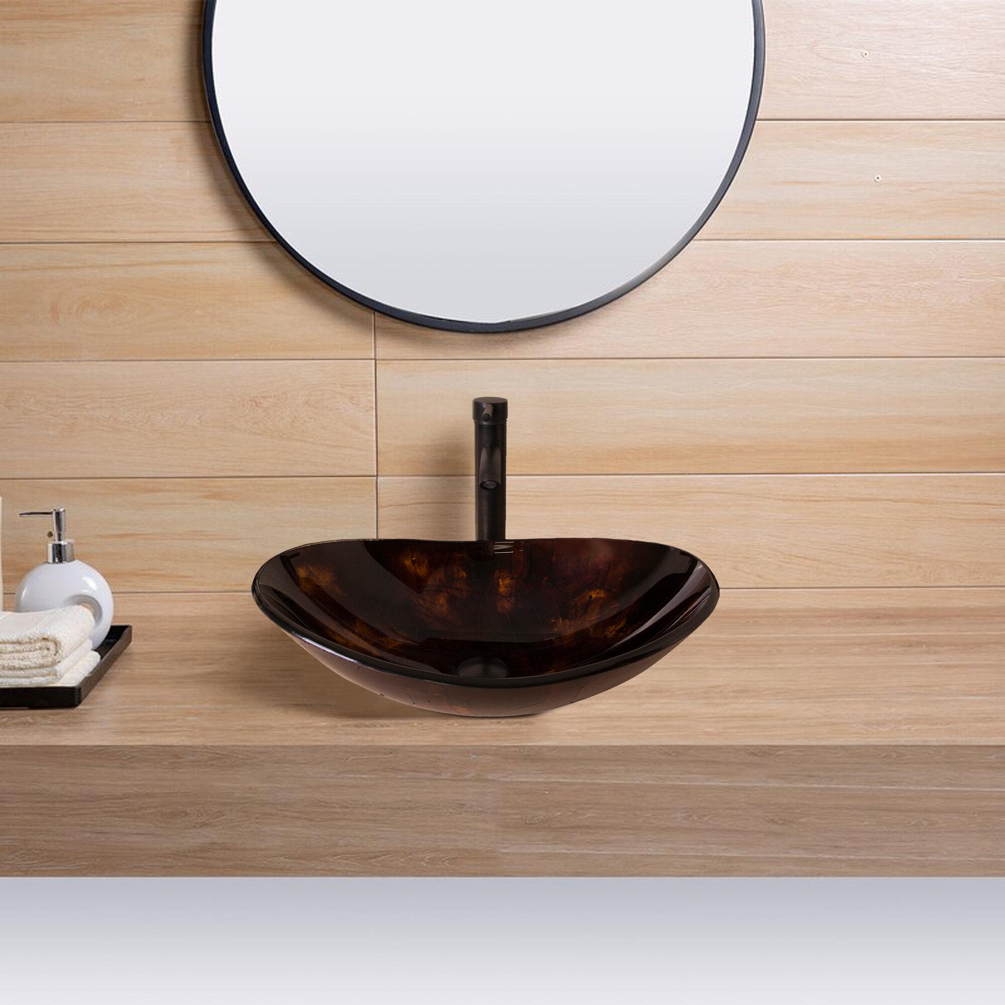 Console Glass Bathroom Sinks You Ll Love In 2021 Wayfair