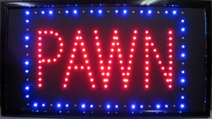 Pawn LED Sign Hanging Lamp by NeoPlex