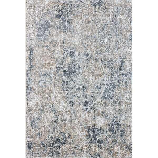 Caddie Light Beige/Blue Area Rug by Ophelia & Co.