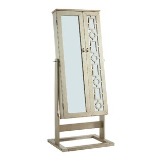 Almarina Wooden Free Standing Jewelry Armoire with Mirror by Latitude Run
