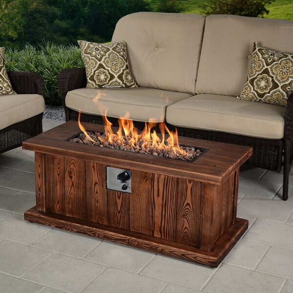 Asheville Envirostone Propane Fire Pit Table by Bond Manufacturing