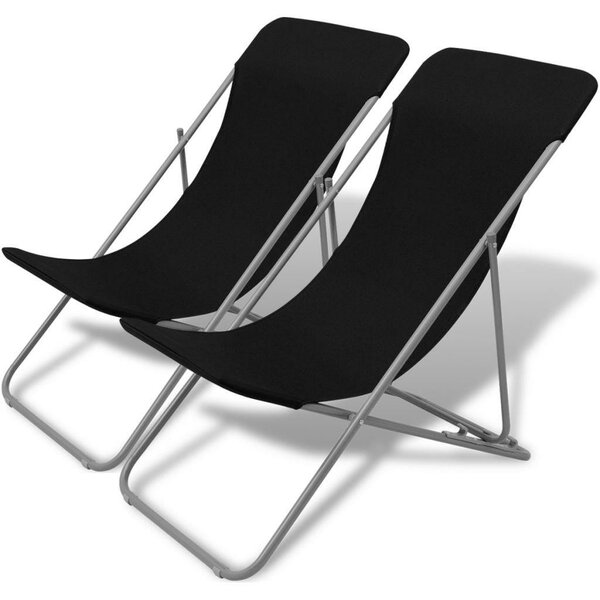 Graball Reclining Beach Chair (Set of 2) by Ebern Designs Ebern Designs