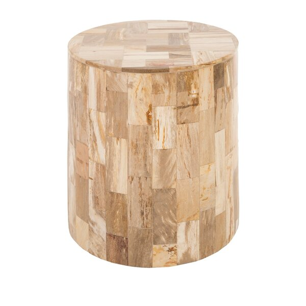 Petrified Laminate Accent Stool