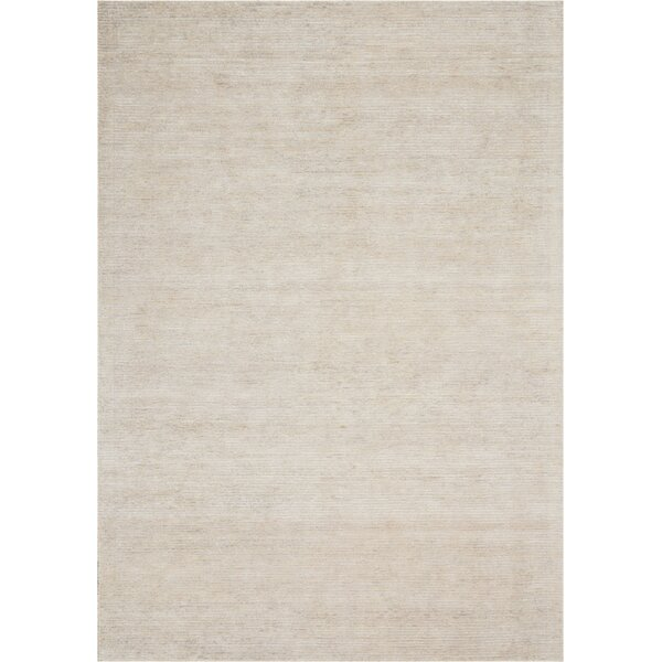 Romans Solid Hand-Tufted Vapor Ivory Area Rug by Highland Dunes