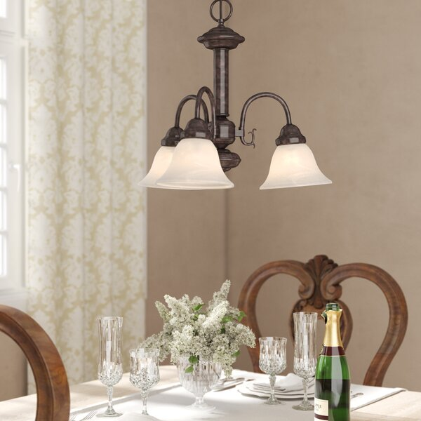 Turcotte 3 - Light Shaded Classic / Traditional Chandelier by Charlton Home Charlton Home