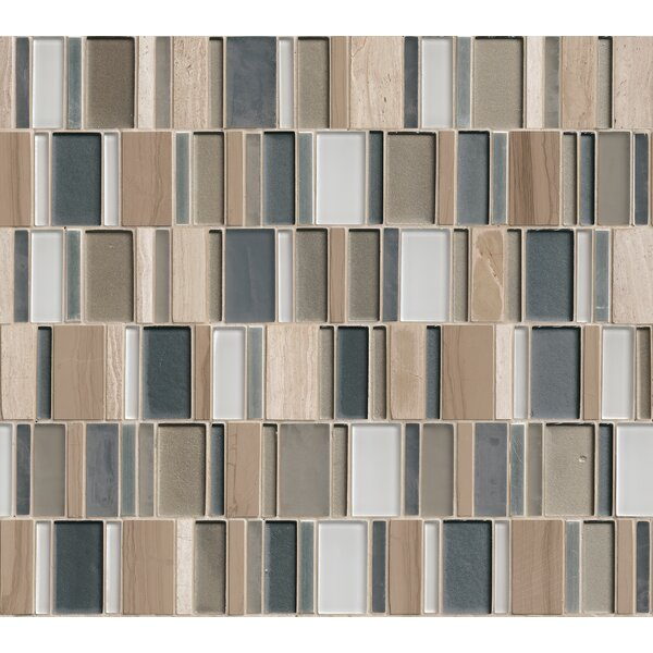 Random Sized Glass/Stone/Metal Mosaic Tile in Taupe by MSI