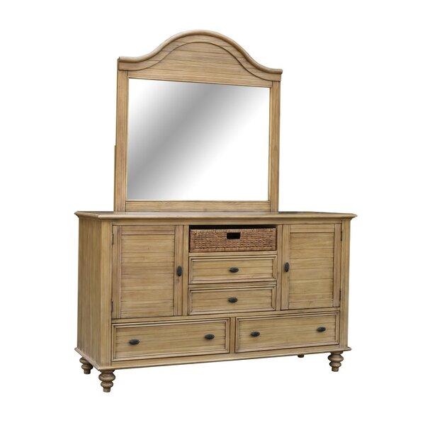 Best Price Jettie 4 Drawers Combo Dresser With Mirror