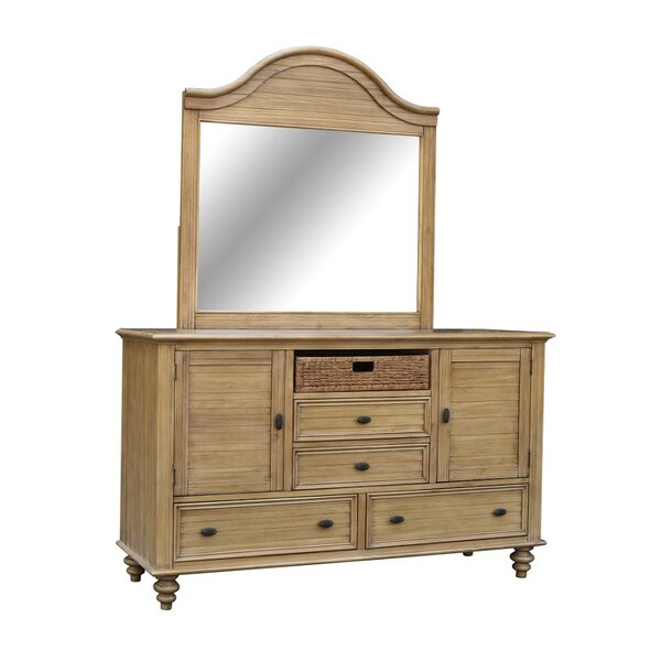 Patio Furniture Jettie 4 Drawers Combo Dresser With Mirror