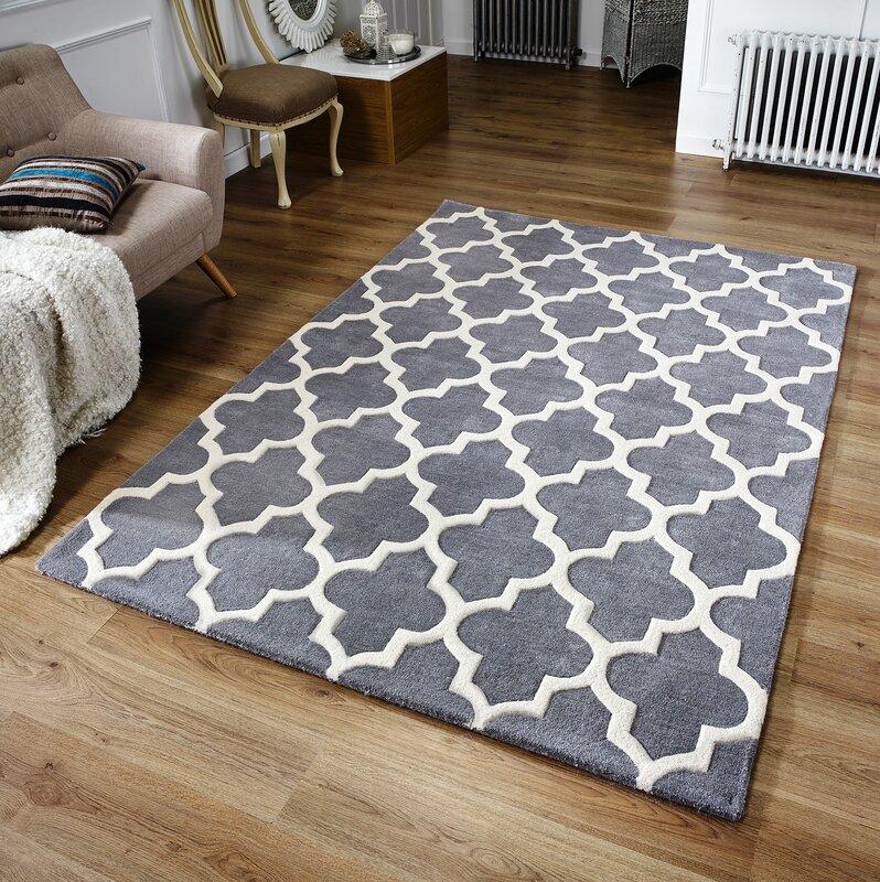 latitude vive oxon hand tufted grey rug reviews. Black Bedroom Furniture Sets. Home Design Ideas