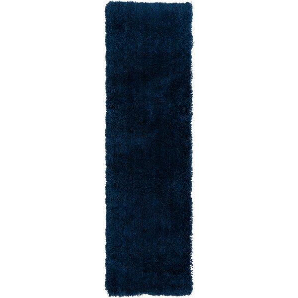 Hallum Hand Woven Sapphire Blue Area Rug by Wrought Studio