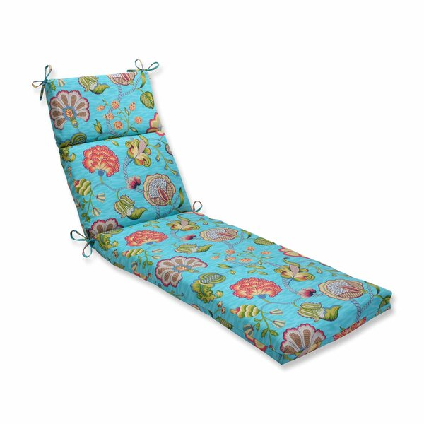 Arabella Indoor/Outdoor Chaise Lounge Cushion by Pillow Perfect