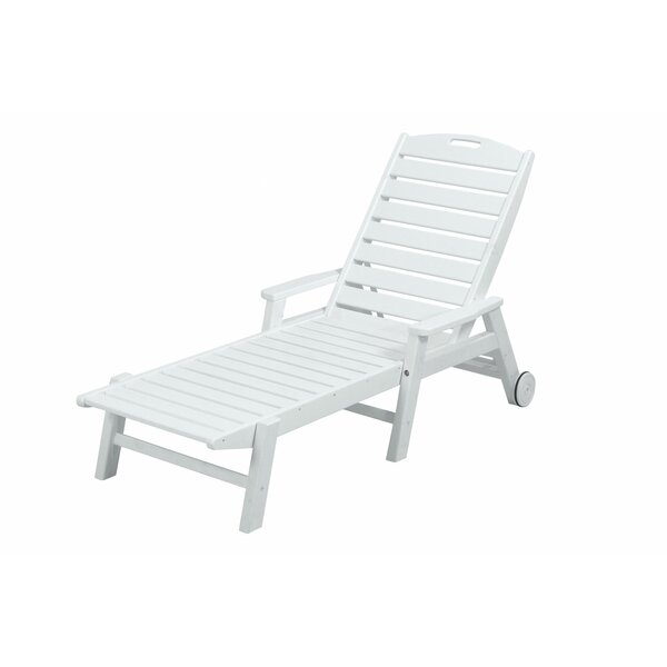 Nautical Chaise with Arms & Wheels by POLYWOOD®