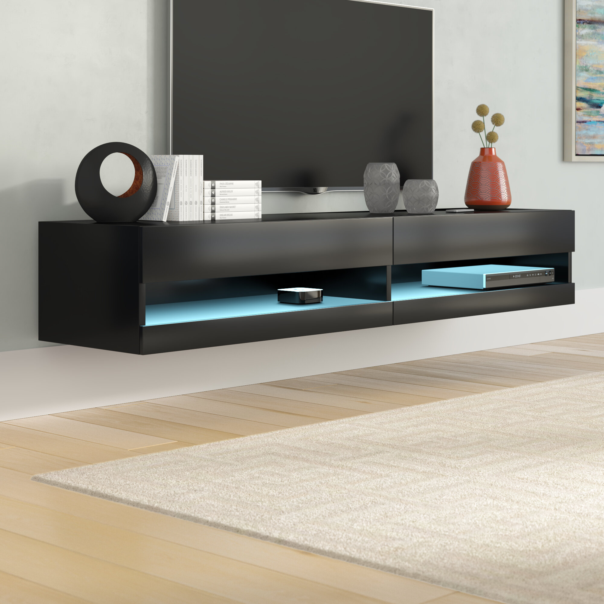 Orren ellis ramsdell tv stand for tvs up to 80 reviews wayfair