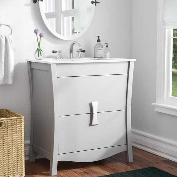 Cataldo Modern Wood Floor Mount 30 Single Bathroom Vanity Set by Royal Purple Bath Kitchen