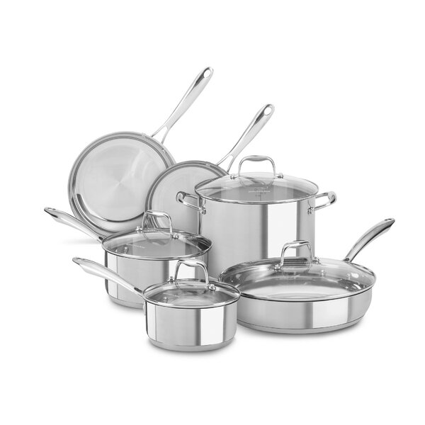 6 Piece Stainless Steel Cookware Set by KitchenAid