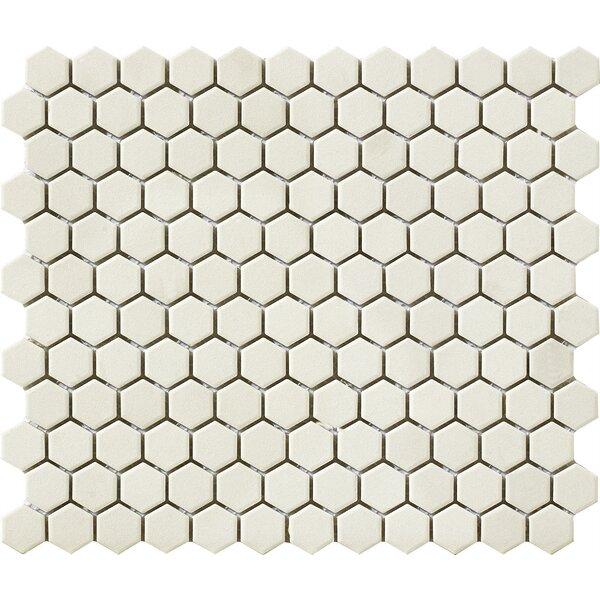 Urban Unglazed 0.75 x 0.75 Porcelain Mosaic Tile in Off-White Hexagon by Walkon Tile