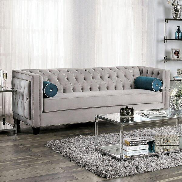 Fresh Tuck Sofa by House of Hampton by House of Hampton