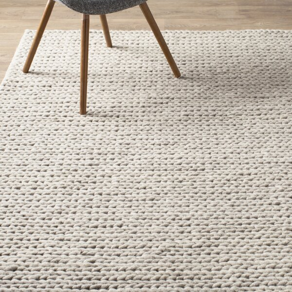 Zayan Meika Chunky Wool Cable Off White Area Rug Amp Reviews