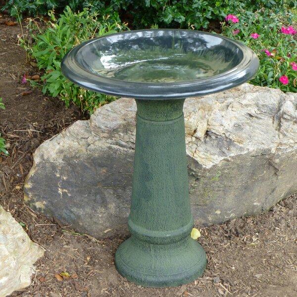 Fiber Clay Birdbath by Tierra Garden