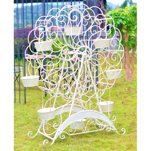 Ferris Wheel Metal Plant Stand by Hi-Line Gift Ltd.