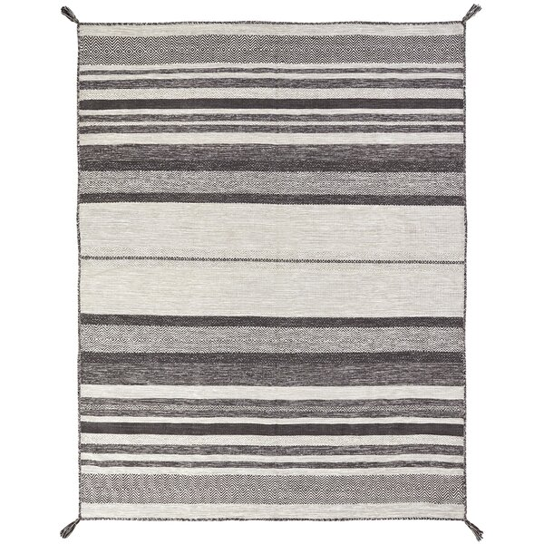 Phillipston Graphite Hand-Knotted Cotton Gray Area Rug by Union Rustic