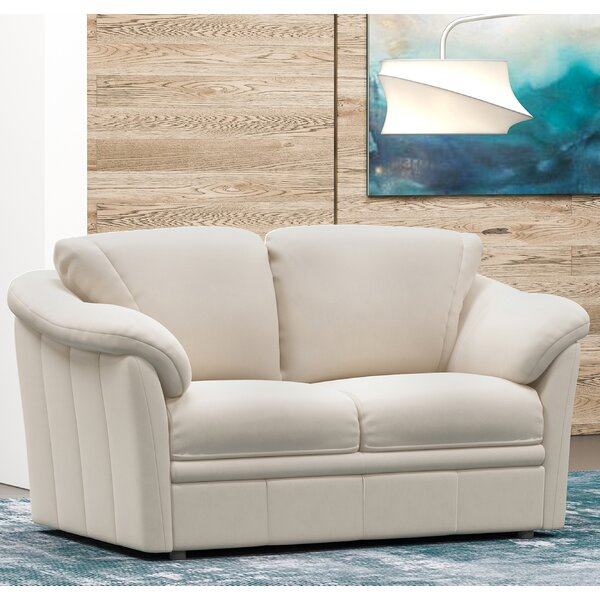 Lyons Leather Loveseat by Westland and Birch