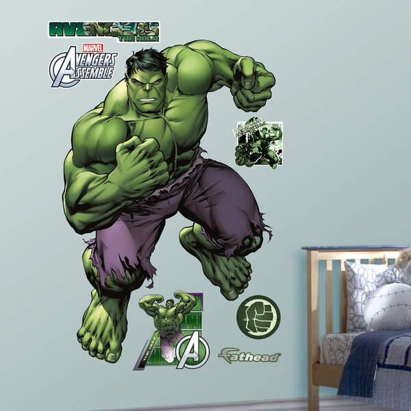 RealBig Marvel Avengers Assemble, Hulk Wall Decal by Fathead