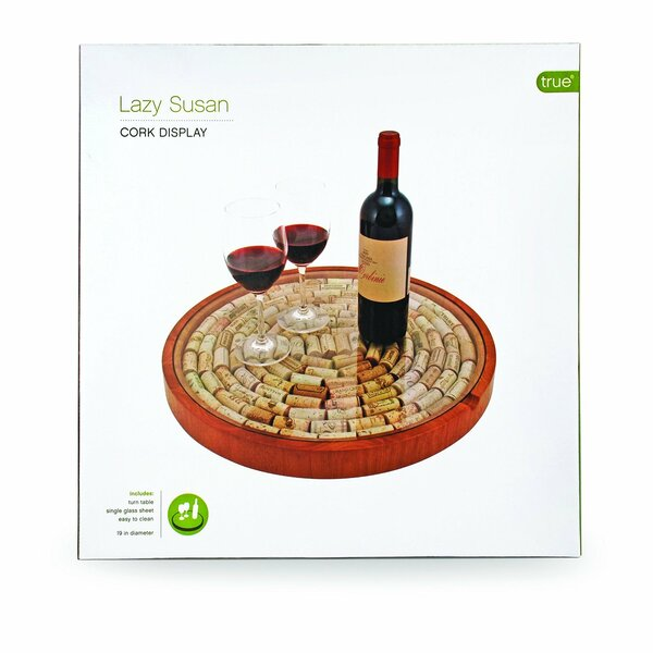 Cork Display Lazy Susan by True Brands