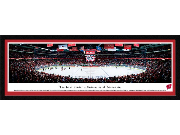 NCAA Wisconsin, University of - Hockey by Christopher Gjevre Framed Photographic Print by Blakeway Worldwide Panoramas, Inc