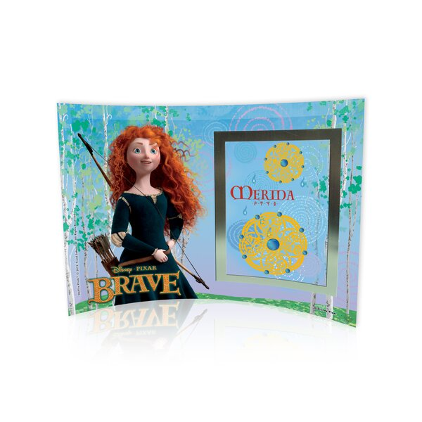 Brave (Merida) Curved Glass Print with Photo Frame by Trend Setters