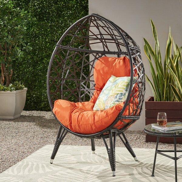 Roosevelt Wicker Teardrop Swing Chair by Bloomsbury Market Bloomsbury Market