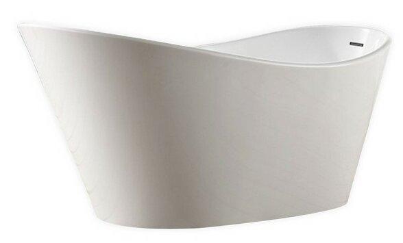 Lavello 71 x 31 Freestanding Soaking Bathtub by Kube Bath