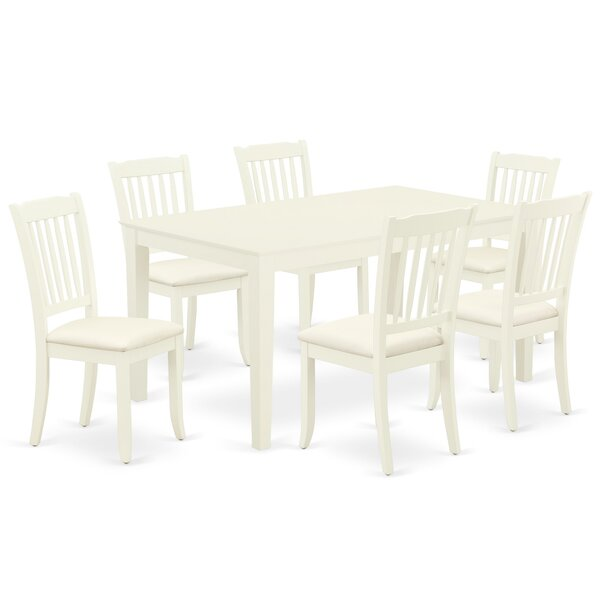 Bochov 7 Piece Solid Wood Dining Set By Winston Porter