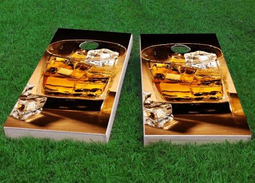 Whiskey Cigars Cornhole Game (Set of 2) by Custom Cornhole Boards
