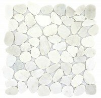 Cultura Pebbles 12 x 12 Marble Tile in White by Emser Tile
