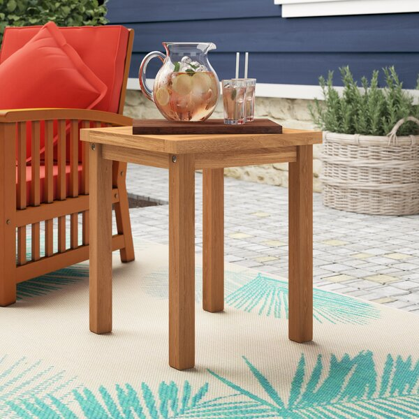 Corum Solid Wood Side Table by Highland Dunes