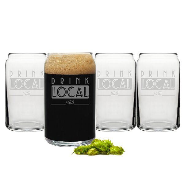 Personalized Drink Local Craft Beer Can Glasses by Cathys Concepts