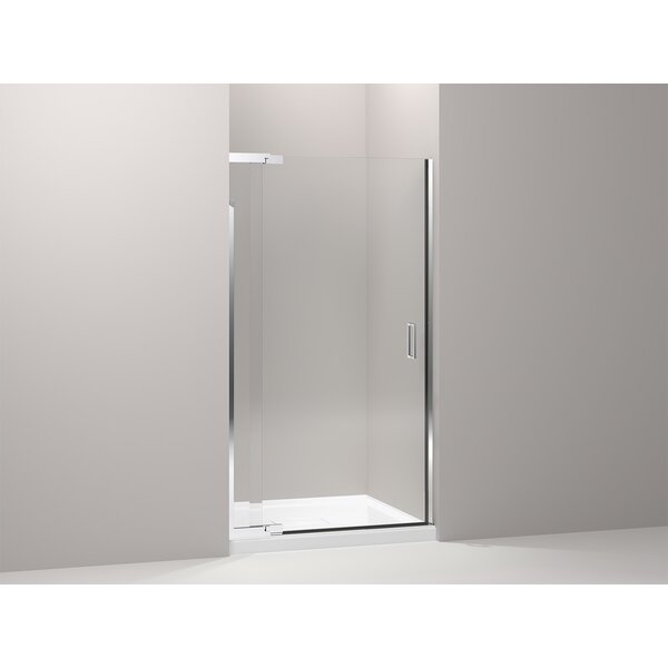 Purist 39 x 72 Pivot Shower Door with CleanCoat® Technology by Kohler