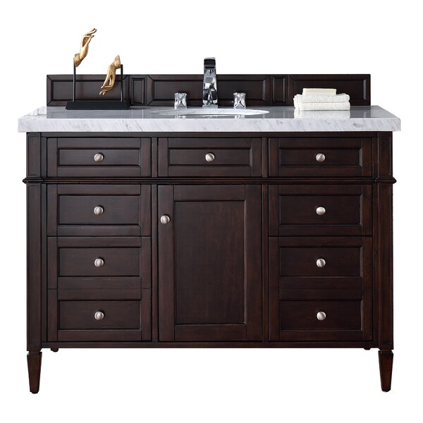 Deleon Traditional 48 Single Burnished Mahogany Wood Base Bathroom Vanity Set by Darby Home Co