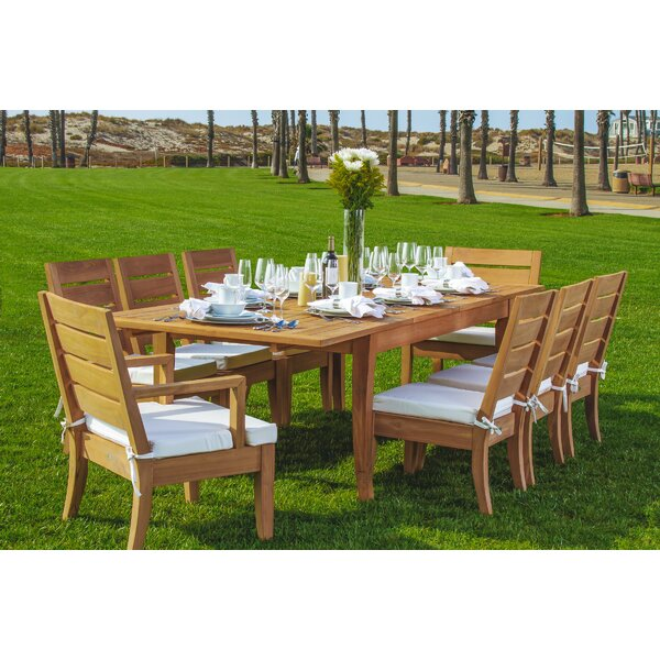 Jagger Luxurious 9 Piece Teak Dining Set by Rosecliff Heights