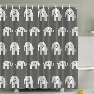 Best Reviews Big Elephant Small Elephant Print Shower Curtain By Ambesonne