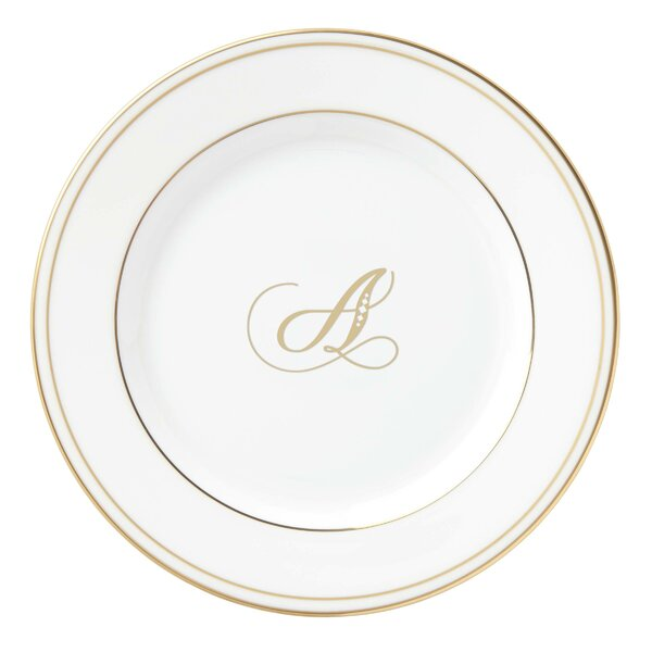 Federal Gold™ Monogram Script 6 Bread and Butter