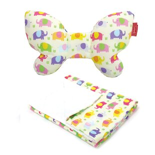 Reviews Butterfly Pillow & Blanket in Elephant ByDwinguler