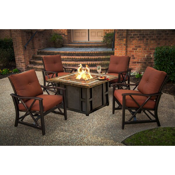 Kirkpatrick 5 Piece Conversation Set with Cushions by Red Barrel Studio
