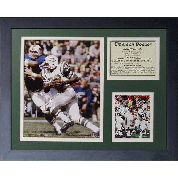 Emerson Boozer Framed Memorabilia by Legends Never Die