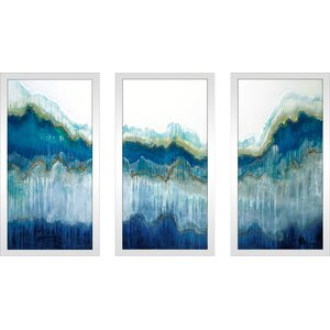 'Surf's Up' Framed Acrylic Painting Print Multi-Piece Image on Glass by Latitude Run