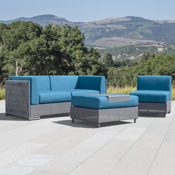 Devito 4 Piece Sofa Seating Group with Cushions by Orren Ellis