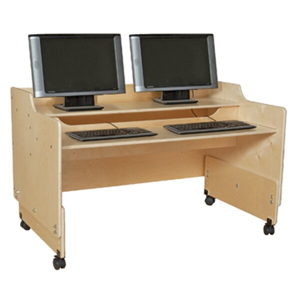 Clarendon Wood Adjustable Height Student Computer Desk by Symple Stuff