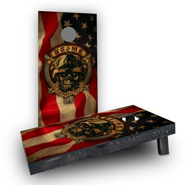 USMC We Fight What You Fear  Cornhole Boards (Set of 2) by Custom Cornhole Boards