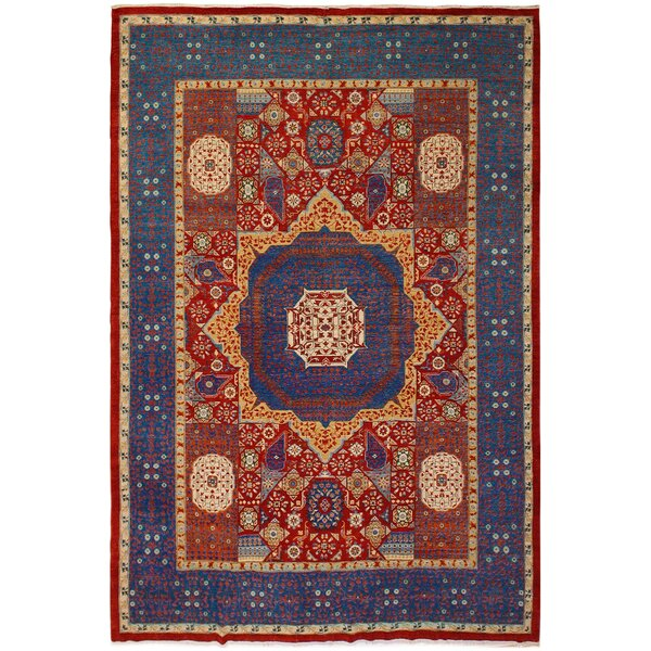 One-of-a-Kind Maarten Hand-Knotted 1960s Heritage Red/Purple 10'3 x 13'11 Wool Area Rug